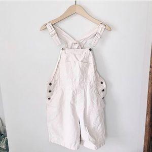 White vintage overalls